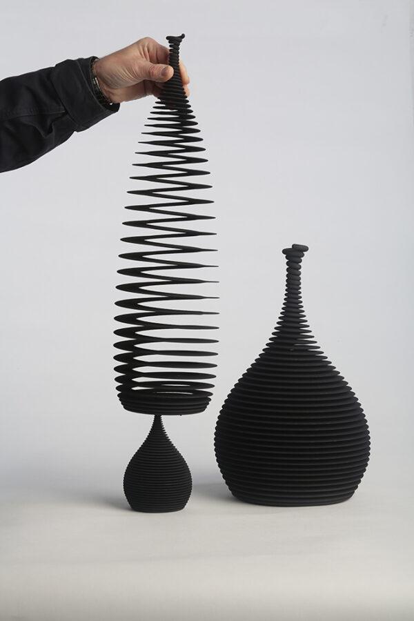 Ron arad black vases