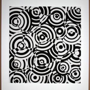 antonio asis interferences cercles noir et blanc editionsmak Mike-Art