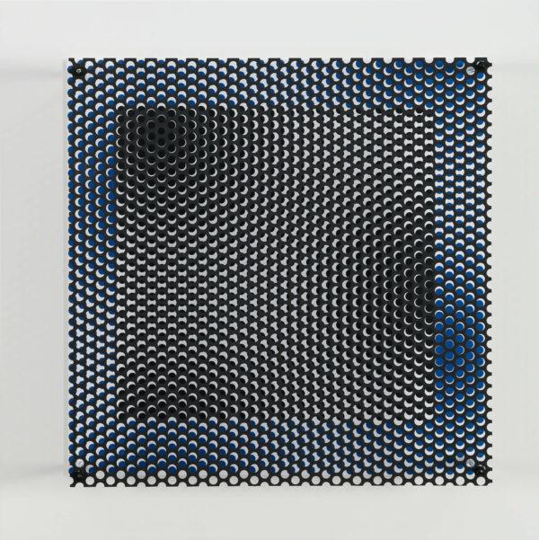 antonio asis vibration carre noir et bleu bis editionsmak mike art kunst