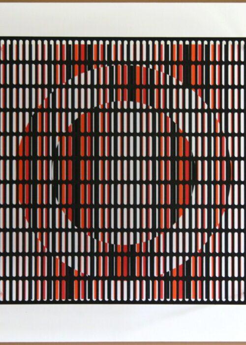 antonio asis vibration cercles noir orange et rouge editionsMAK Mike-Art