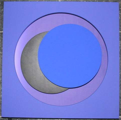 genevieve claisse cercles bleu neon