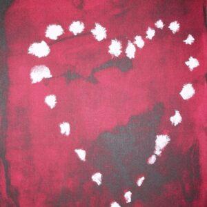 luc tuymans heart for handicap international screenprint Mike-Art.
