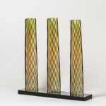 carlos cruz-diez cromovela tryptich 18 ceramic Mike-Art