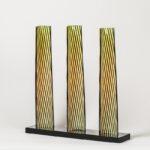 carlos cruz-diez cromovela tryptich 18 ceramic Mike-Art