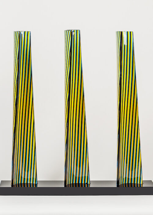 carlos cruz-diez cromovela tryptich 20 ceramic Mike-Art