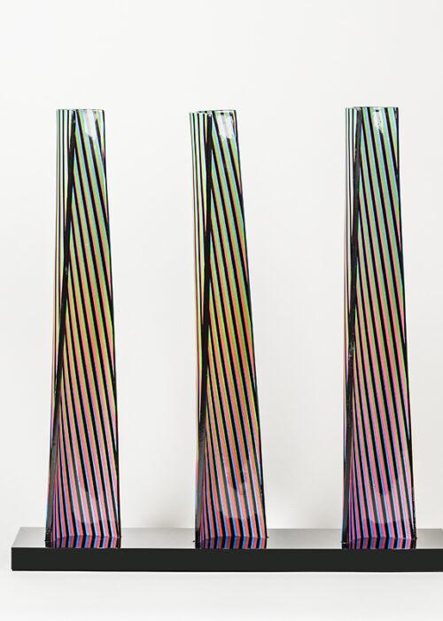 carlos cruz-diez cromovela tryptich 13 ceramic Mike-Art