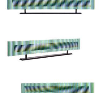 carlos cruz-diez ceramique setele horizontal