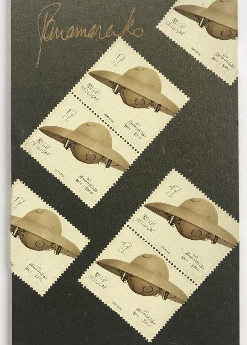 panamarenko jouet de l espace stamps timbres collage mike-art