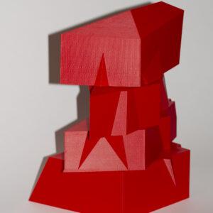 asdrubal colmenarez red twirl edition sculpture