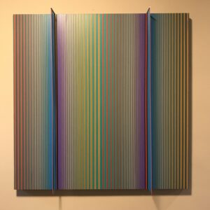 Unique painting on canvas by Dario Perez-Flores- Prochromatique 1138. cinetic colors - exclusive on Mike-Art-Kunst. Signed by the artist.