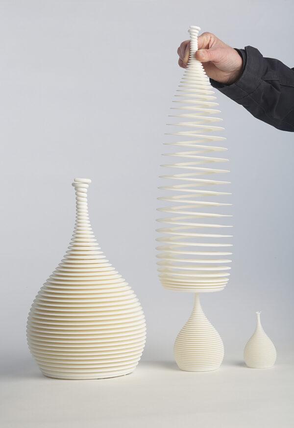 Ron Arad 4 white vases