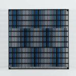 antonio asis Vibration bandes noir, bleu et turquoise edition Mike-Art-Kunst