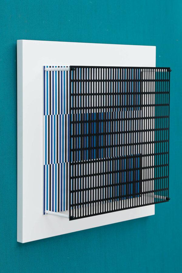 antonio asis Vibration bandes noir, bleu et turquoise edition Mike-Art-Kunst bis