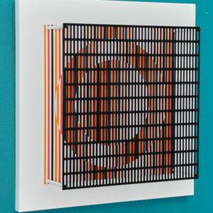 antonio asis Vibrations cercles noir, orange et rouge edition mike-art-kunst