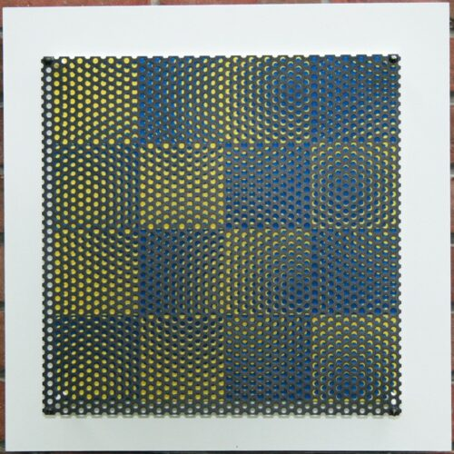 antonio asis vibration 16 carres bleu et jaune editionsMAK Mike-Art