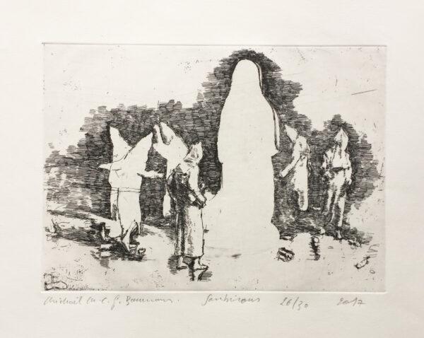 michael borremans soubirous etching print Mike-Art