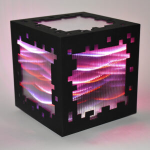 miguel chevalier mini voxels light red editionsMAK Mike-Art