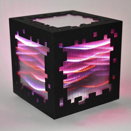 miguel chevalier mini voxels light red editionsMAK Mike-Art