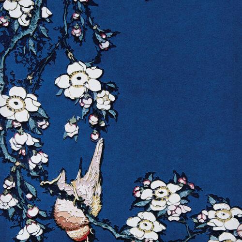 Vik Muniz Bullfinch and Weeping Cherry from Small Flowers after Hokusai editionsmak Mike-Art