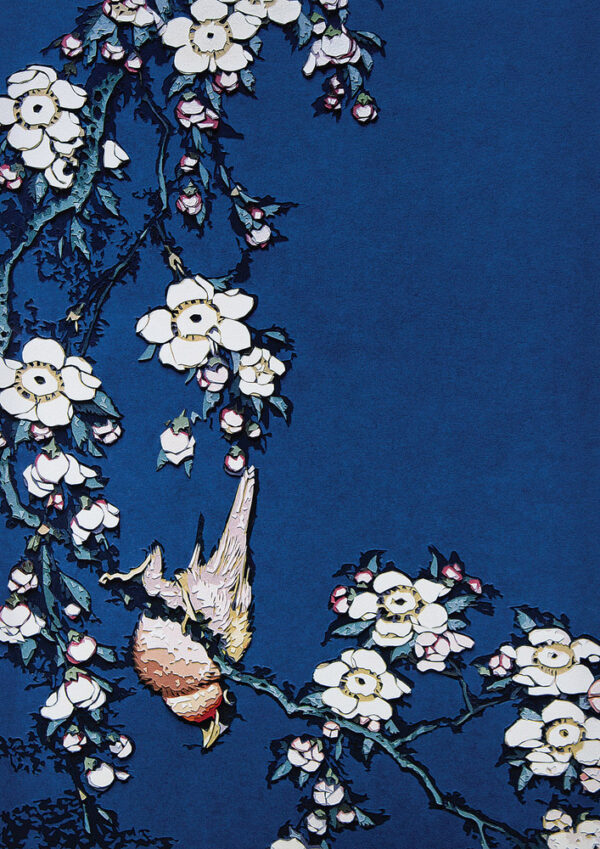 Vik Muniz Bullfinch and Weeping Cherry from Small Flowers after Hokusai editionsmak Mike-Art