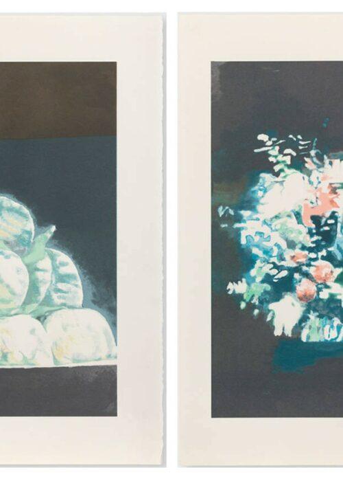 luc tuymans peaches and technicolor screenprint mike-art