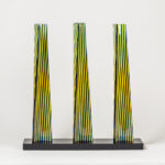 carlos cruz-diez cromovela tryptich 20 ceramic Mike-Art
