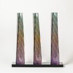 carlos cruz-diez cromovela tryptich 13 ceramic Mike-Art