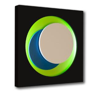genevieve claisse-cercle-noir-vert-bleu-neon editionsmak